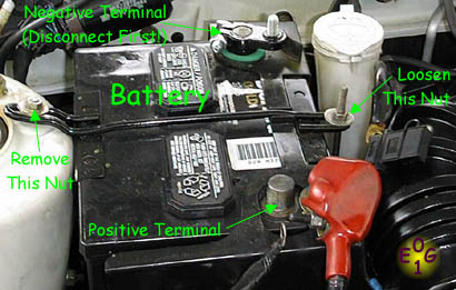 Changing a car battery with side terminals