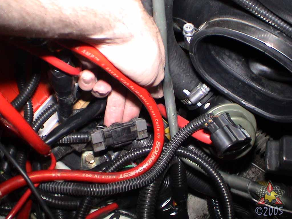 1995 3000gt vr 4 click start fix there is a black wiring harness for the starter solenoid wire which located in front of the battery it has a black wire a red stripe