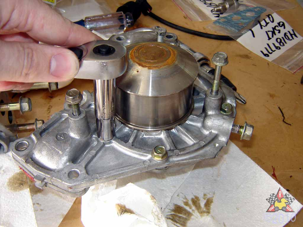 remove water pump in 1995 ford aerostar